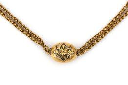 An 18 karat gold fox tail link watch chain/ necklace