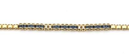 An 18 karat gold sapphire and diamond bracelet