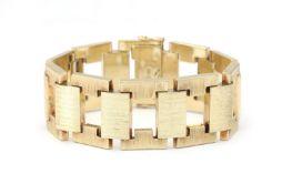 An 14 krt gold bracelet, ca. 1950