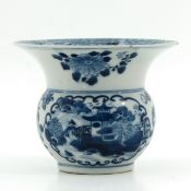 A Blue and White Spittoon