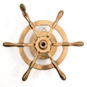 A Brass Steering Wheel