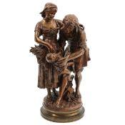 A Signed Bronze Sculpture