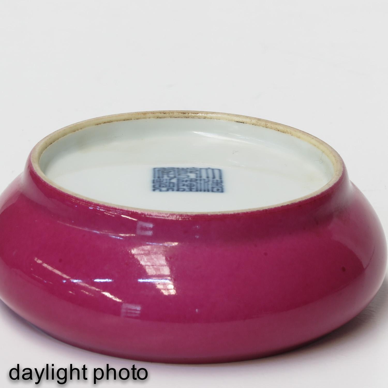 A Ruby Glaze Brush Washer - Image 8 of 10
