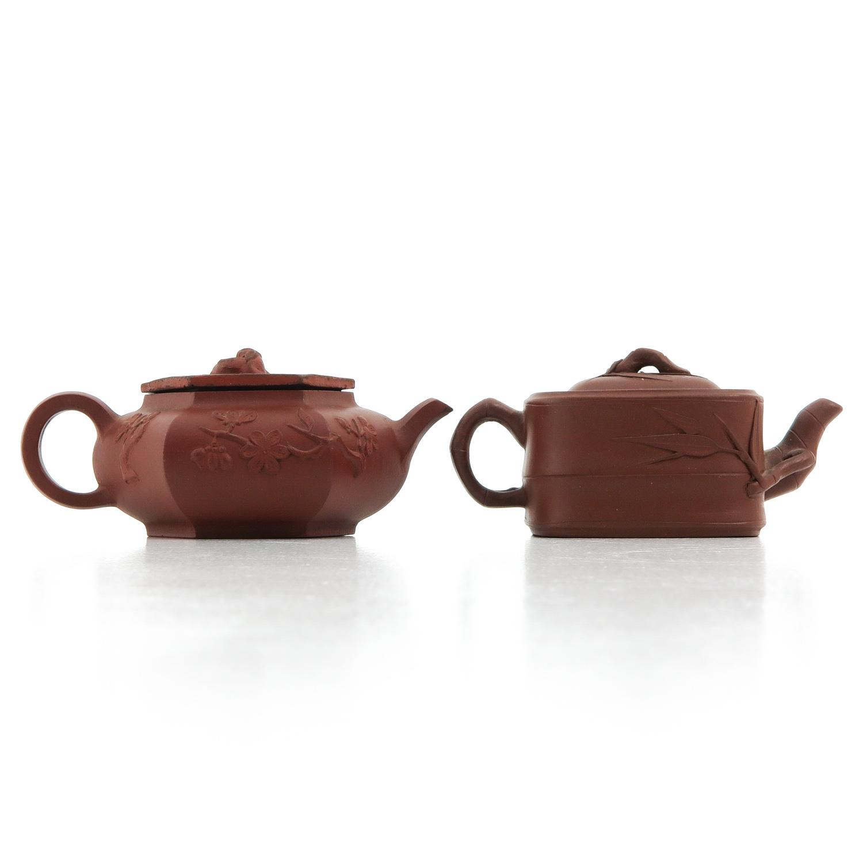 2 Yixing Teapots - Image 3 of 10