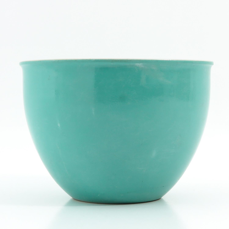 A Celadon Cache Pot - Image 2 of 9