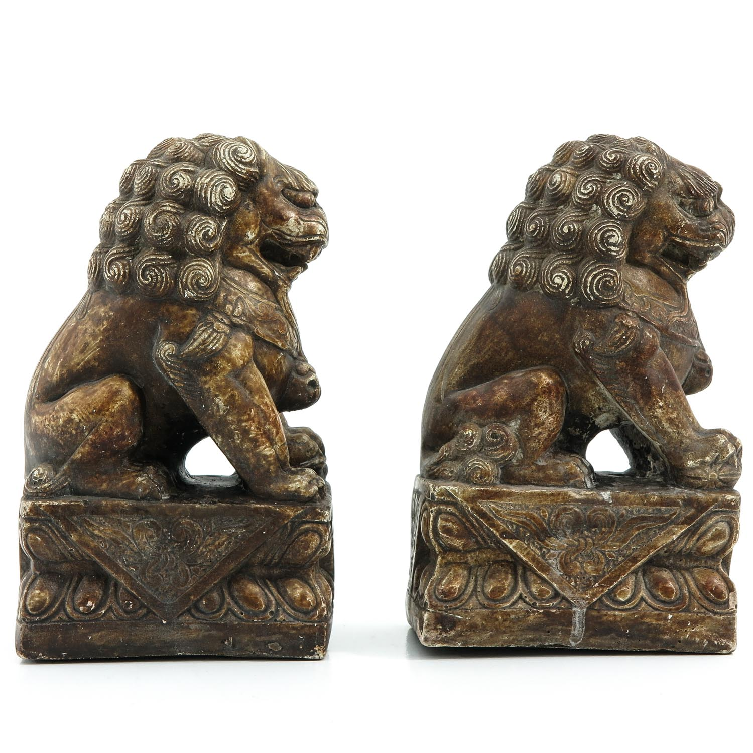 A Pair of Stone Temple Lions - Image 4 of 9