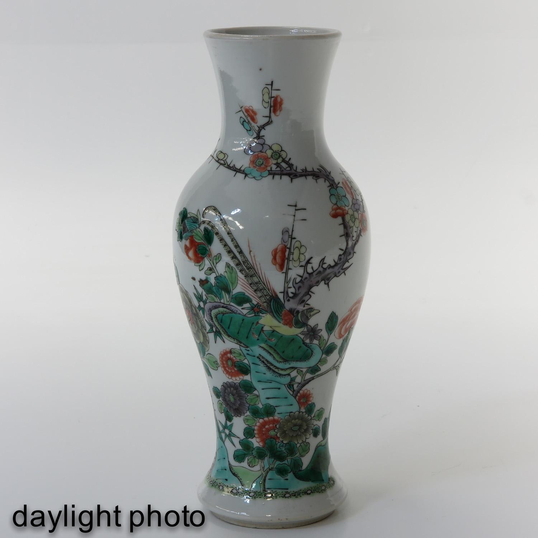 A Famille Verte Vase - Image 7 of 10