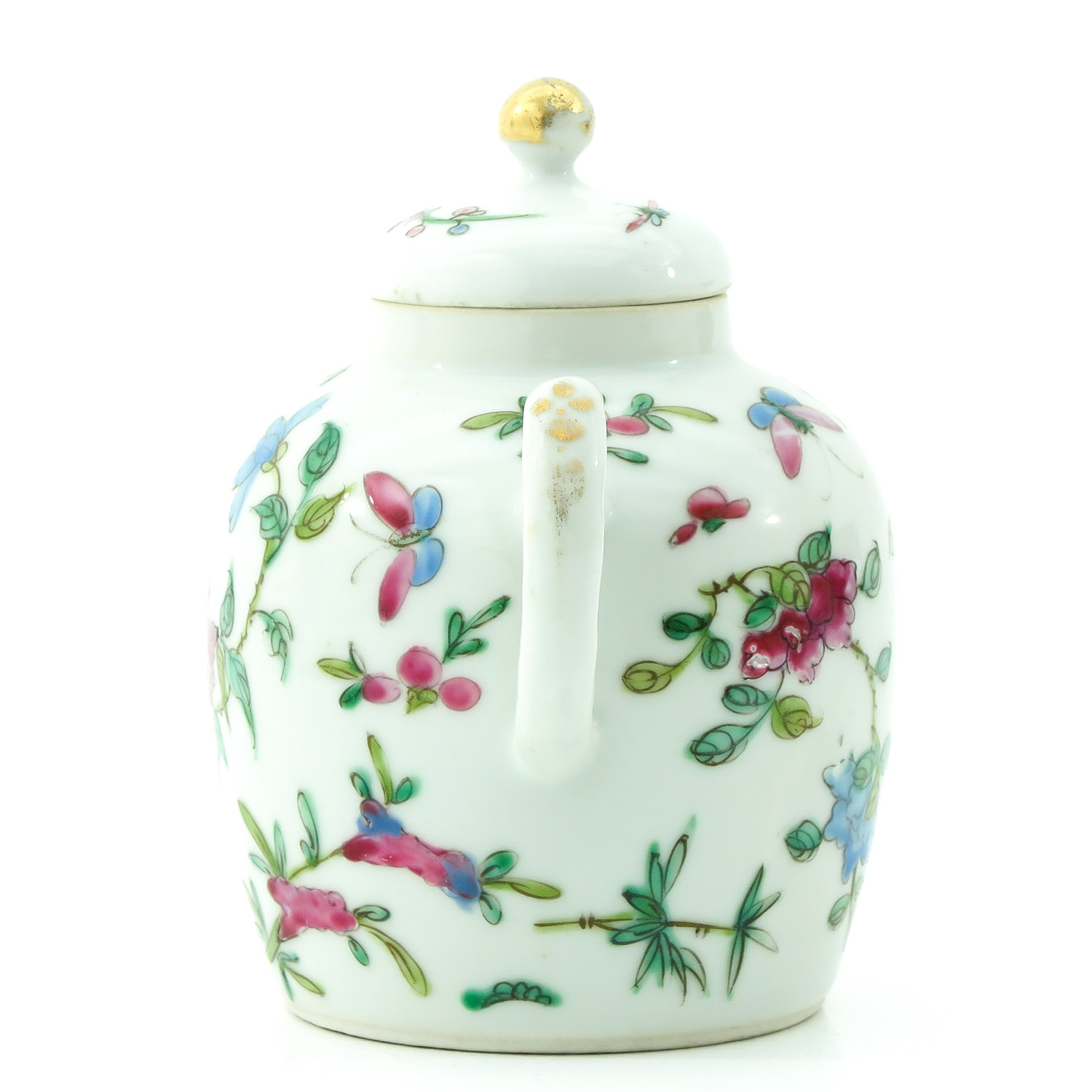 A Famille Rose Teapot - Image 2 of 9