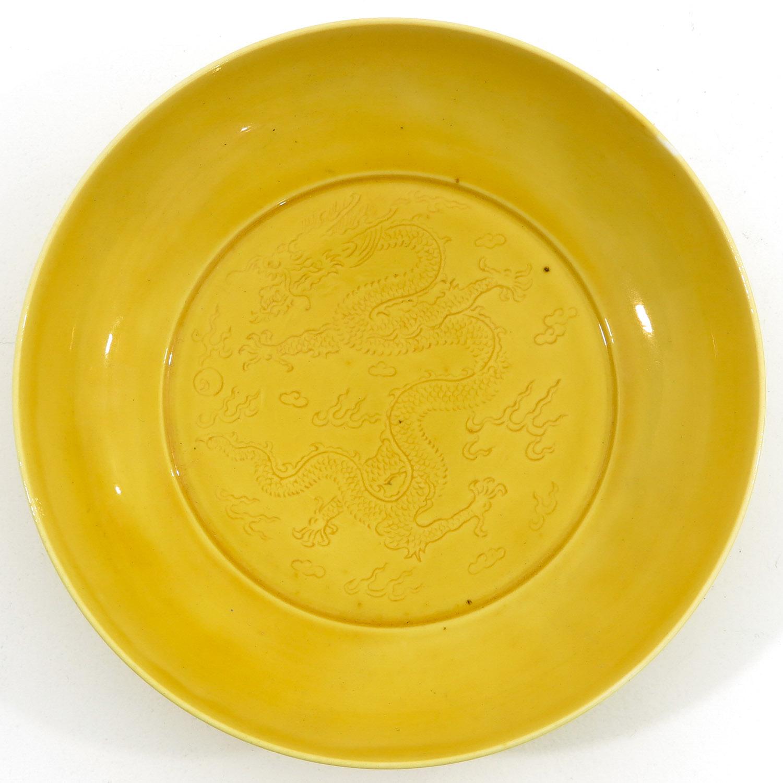 A Yellow Glaze Dish
