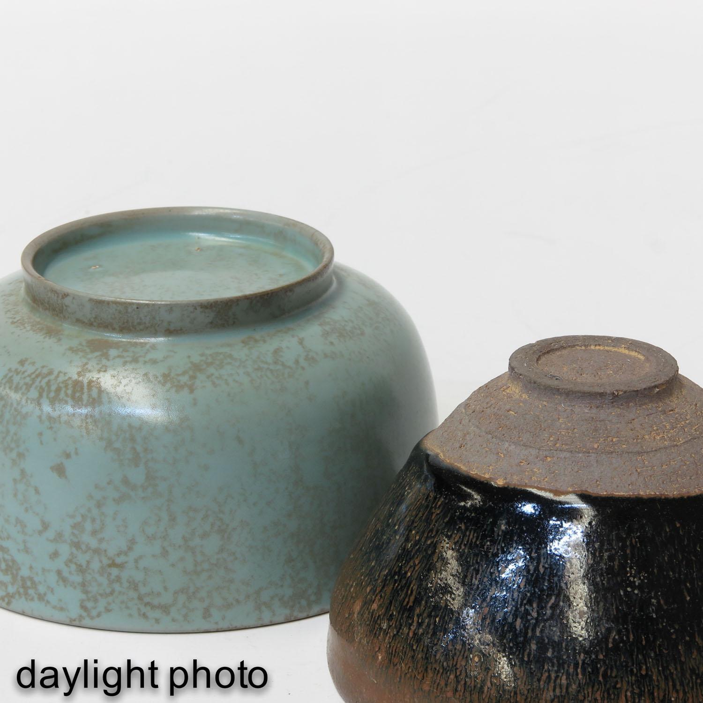 A Hare Fur Tea Bowl and Celandon Bowl - Image 8 of 10