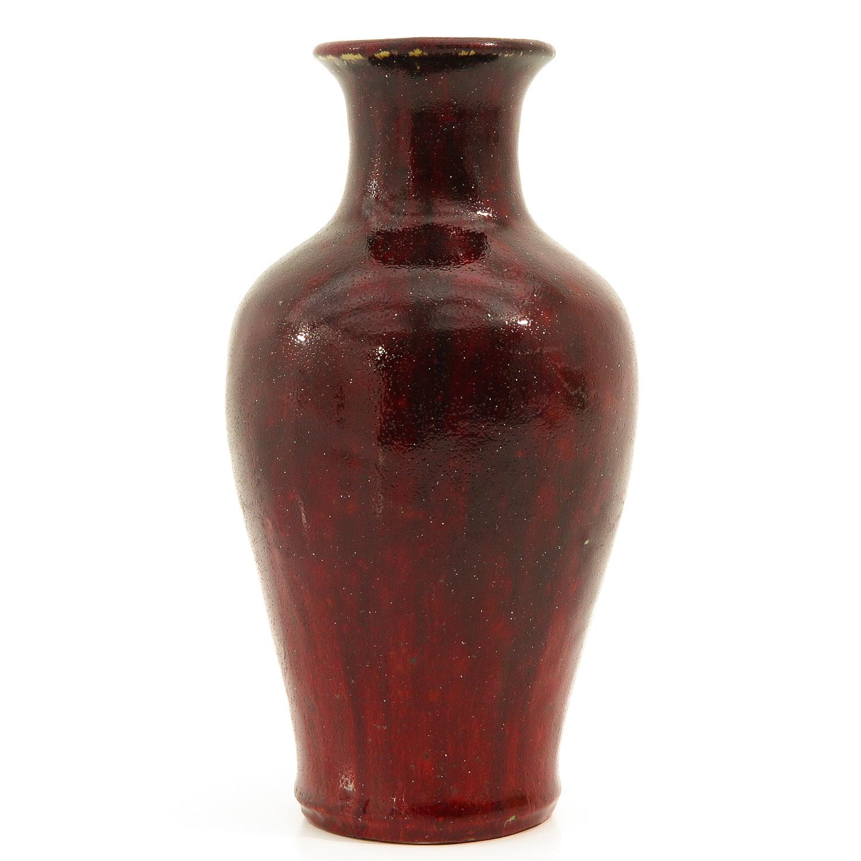 A Sang de Boeuf Vase - Image 4 of 9