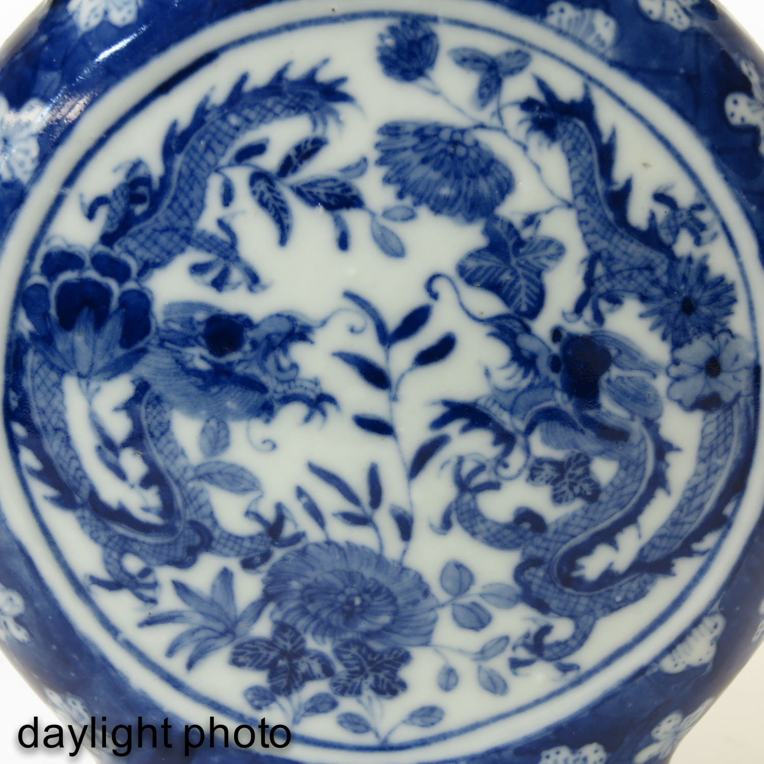 A Blue and White Moon Bottle - Image 10 of 10