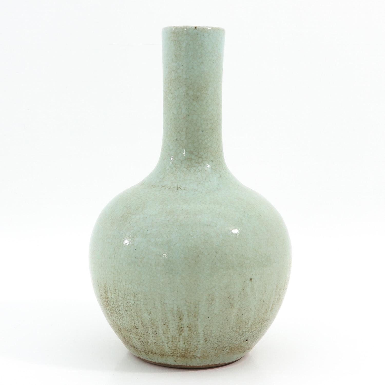 A Celadon Bottle Vase - Image 2 of 10