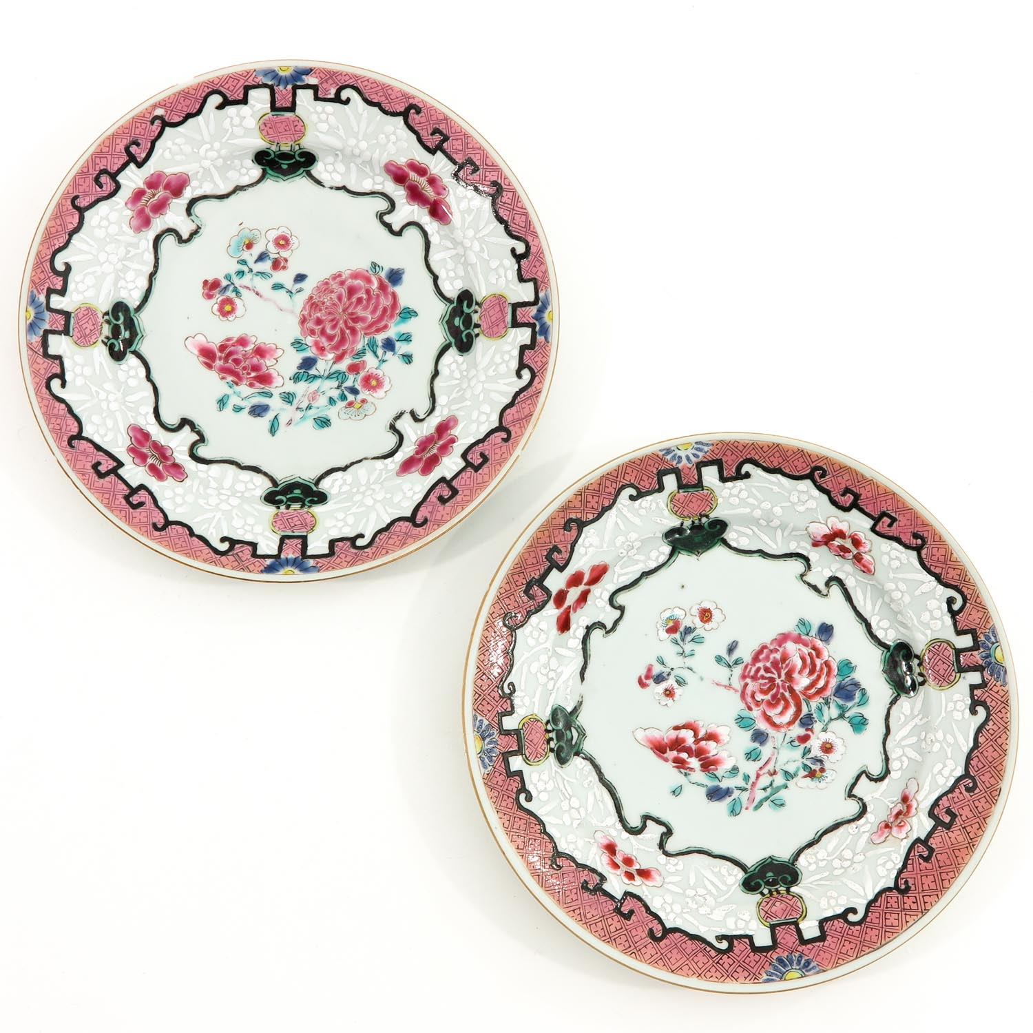 A Series of 4 Famille Rose Plates - Image 5 of 9