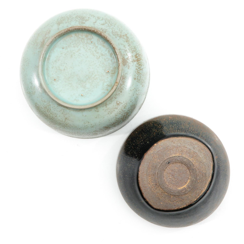 A Hare Fur Tea Bowl and Celandon Bowl - Image 6 of 10