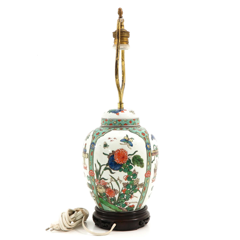 A Famille Verte Lamp - Image 4 of 9