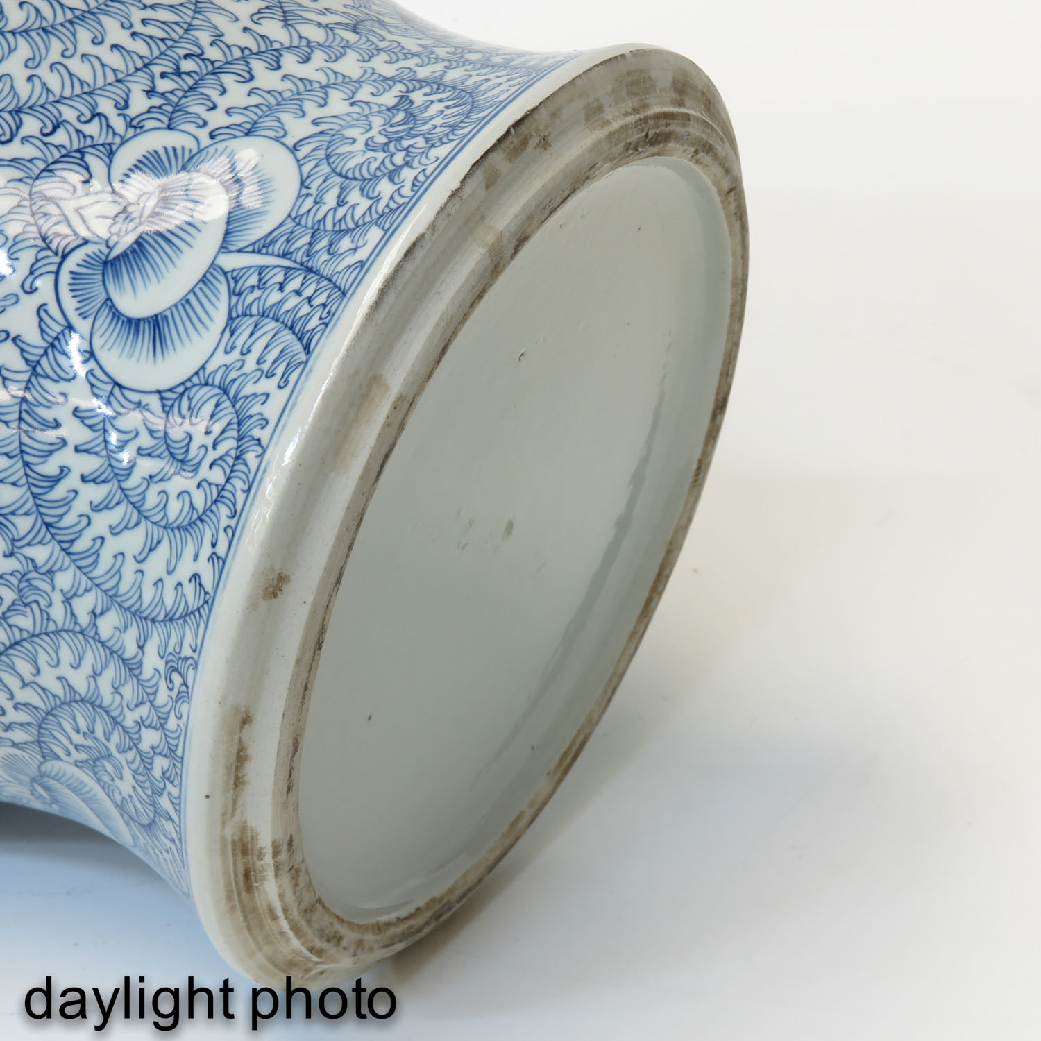 A Blue and White Vase with Cover - Image 8 of 9