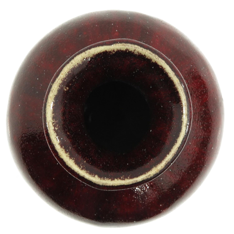 A Sang de Boeuf Vase - Image 5 of 9