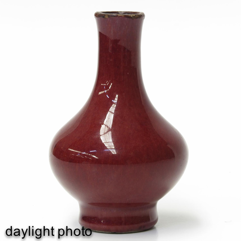A Small Sang de Boeuf Vase - Image 7 of 9