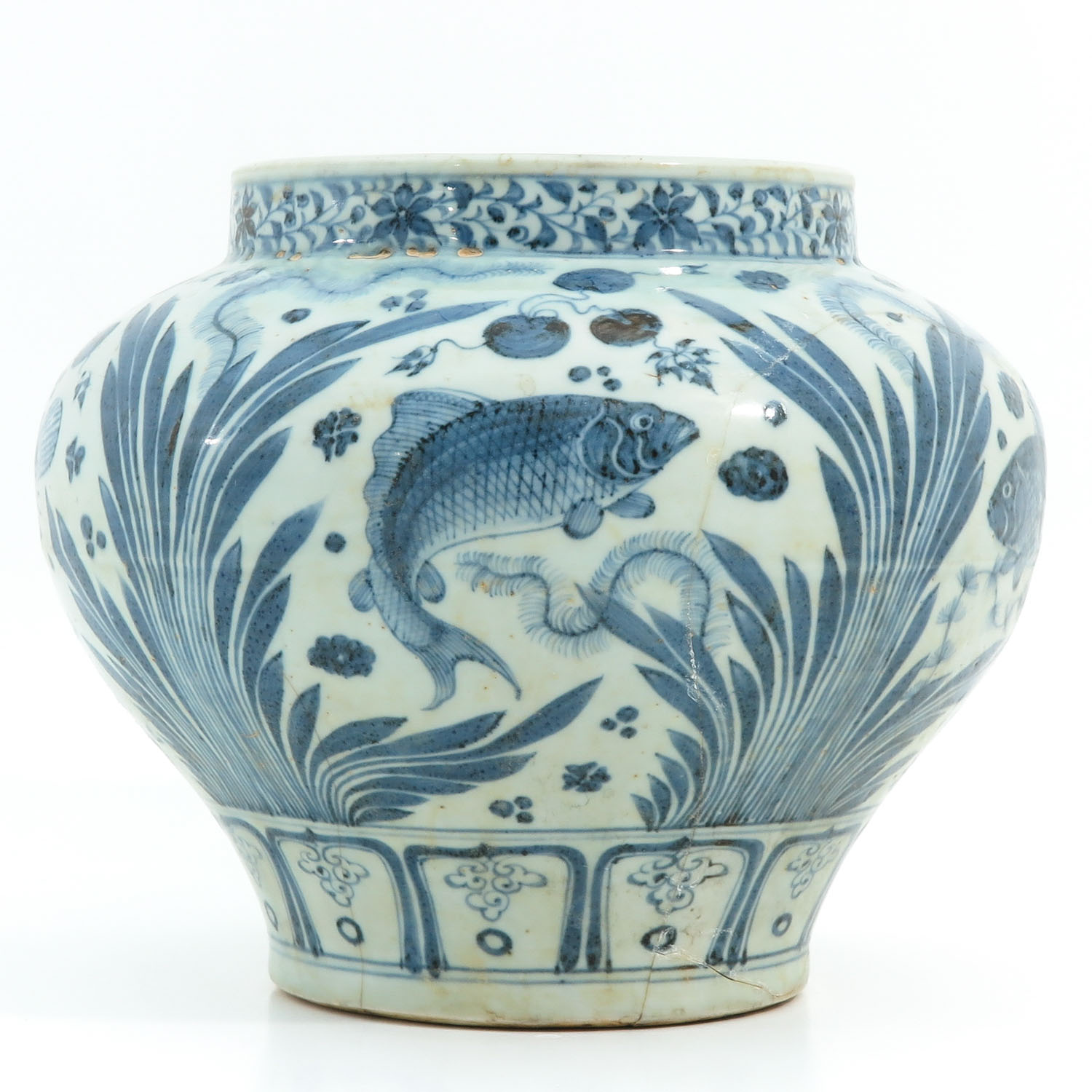 A Blue and White Jar - Image 2 of 9
