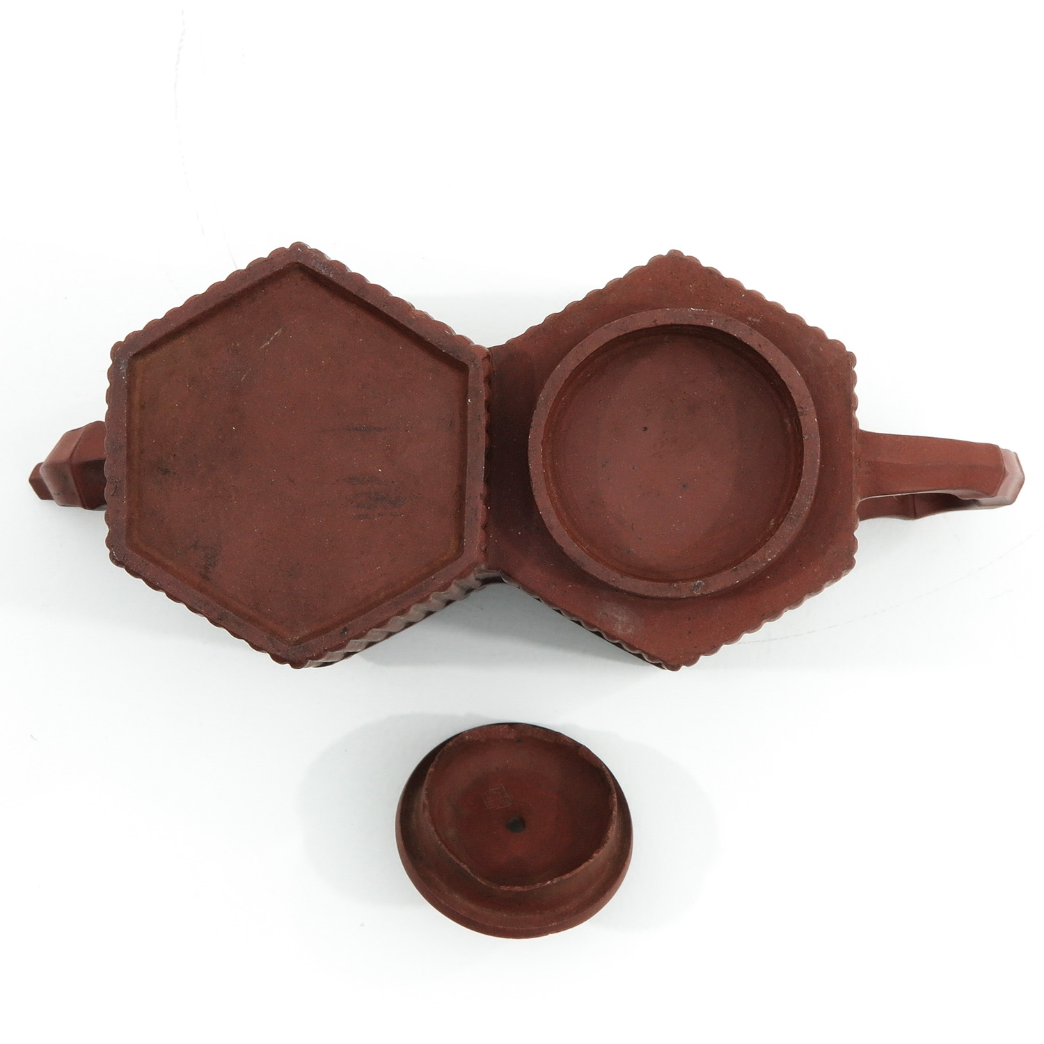 A Double Yixing Teapot - Image 6 of 9