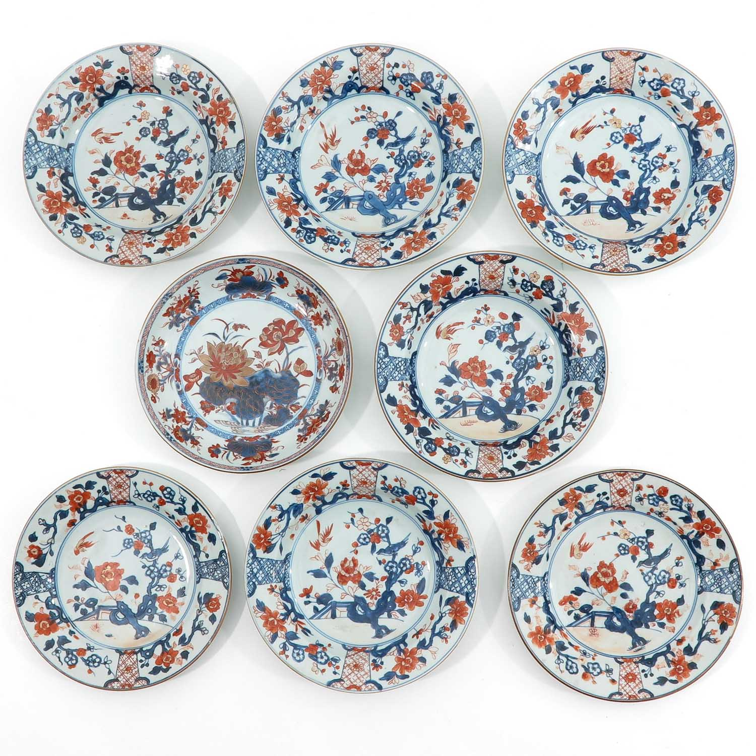 A Collection of 8 Imari Decor Plates