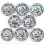 A Collection of 8 Imari Decor Plates