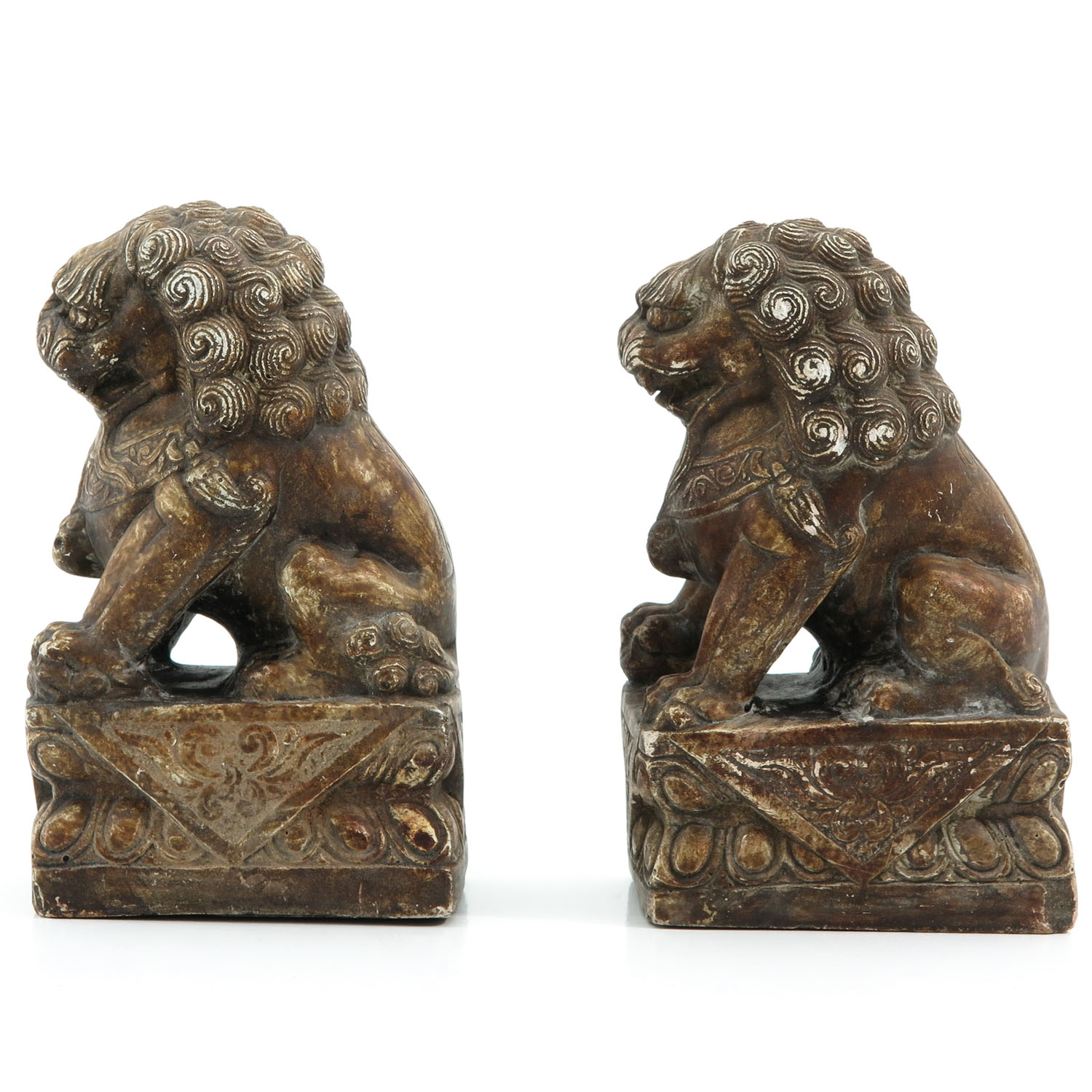 A Pair of Stone Temple Lions - Image 2 of 9