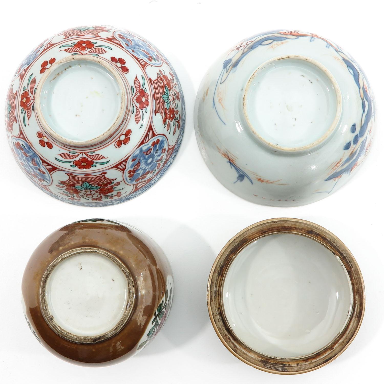 A Batavianware Jar and 2 Bowls - Image 6 of 9
