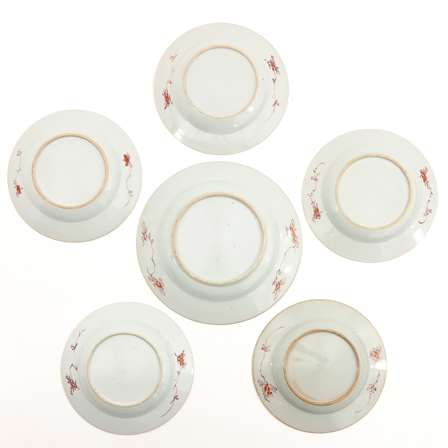 A Collection of 6 Polychrome Decor Plates - Image 2 of 9