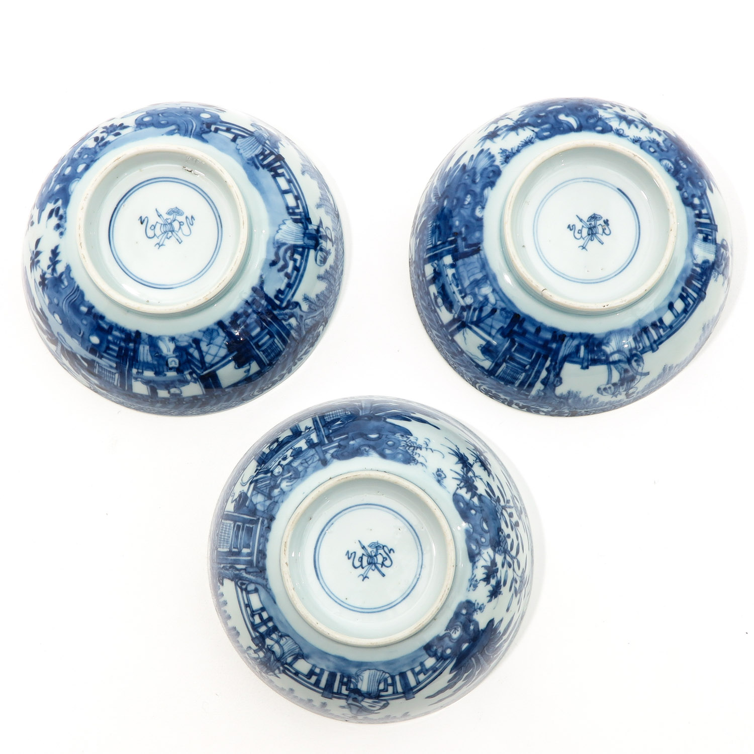 A Series of 3 Blue and White Bowls - Image 6 of 10