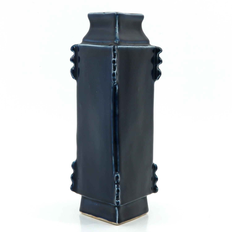 A Blue Glaze Vase - Image 4 of 10