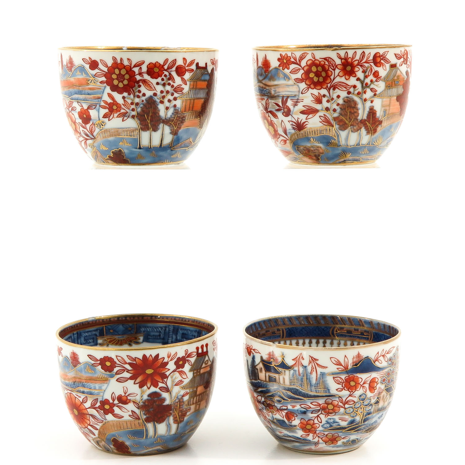 4 Imari Cups and Saucers - Image 4 of 10