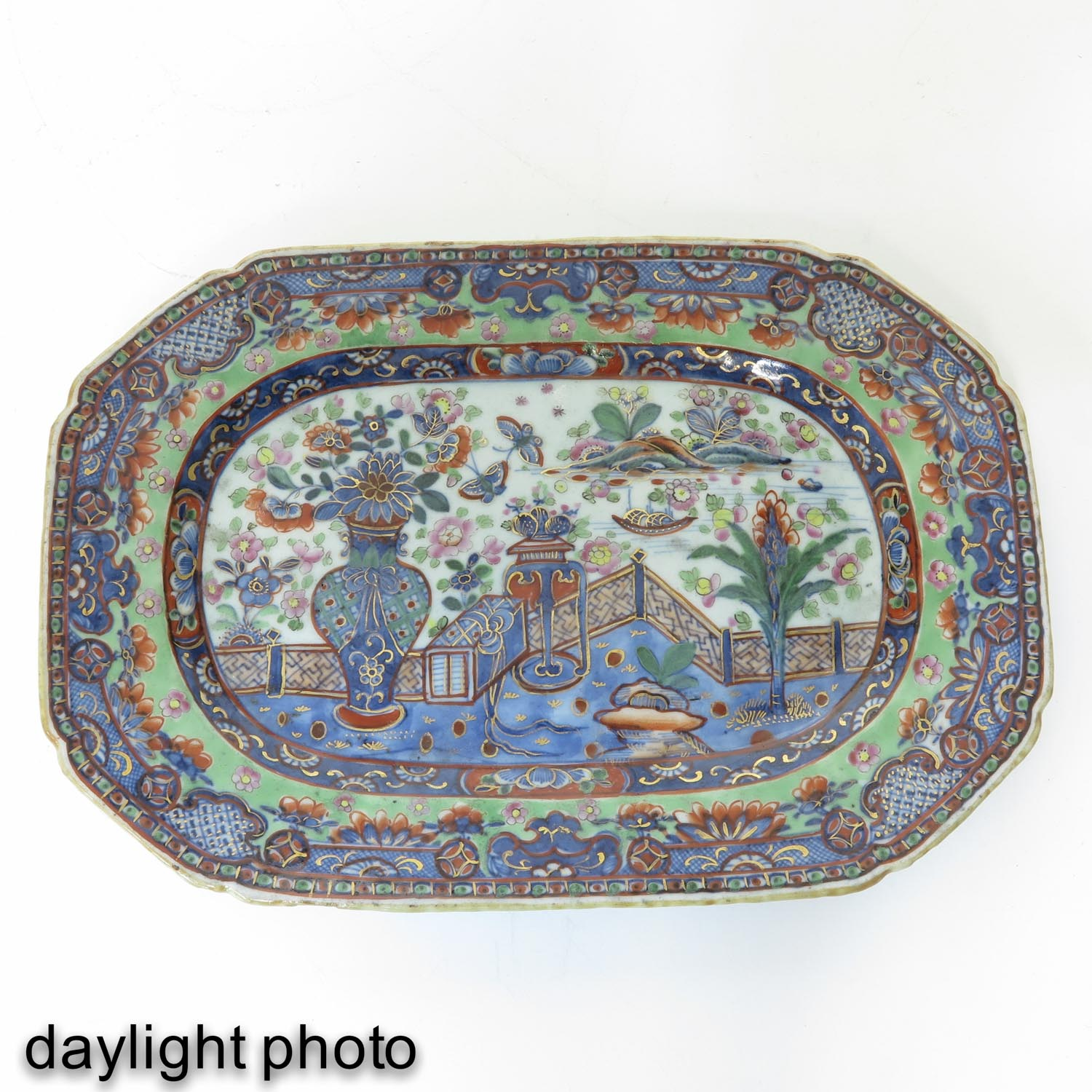 A Polychrome Dish - Image 3 of 5
