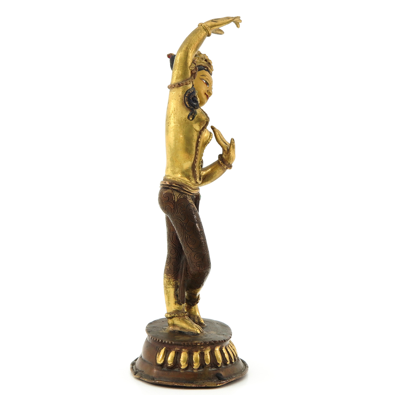 A Bronze Quanyin Sculputre - Image 4 of 10