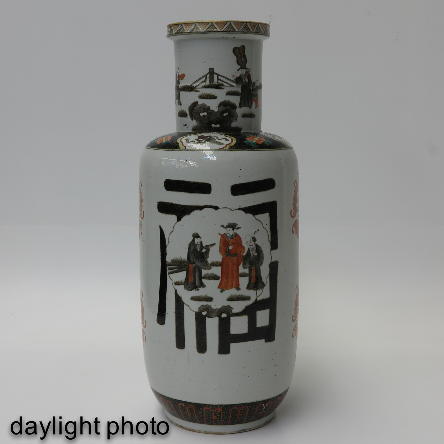 A Pair of Polychrome Decor Vases - Image 7 of 10