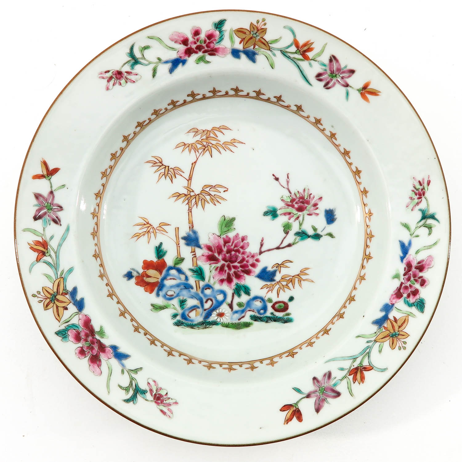 A Pair of Famille Rose Plates - Image 5 of 9