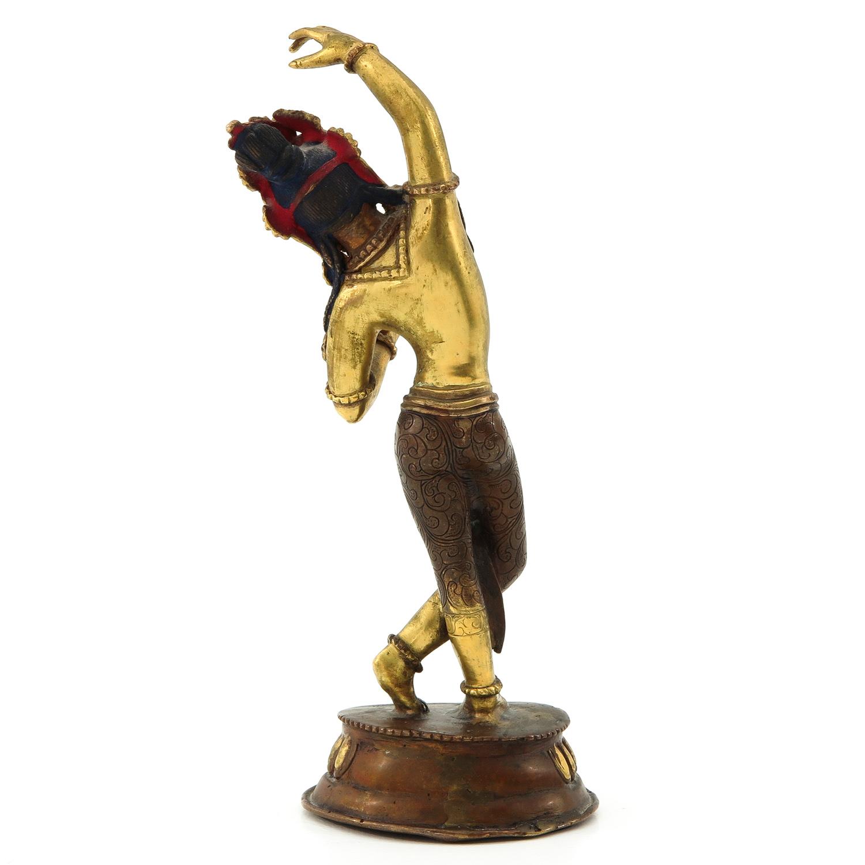 A Bronze Quanyin Sculputre - Image 3 of 10