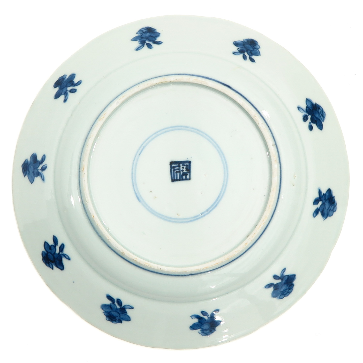 A Lot of 2 Blue and White Plates - Image 6 of 10