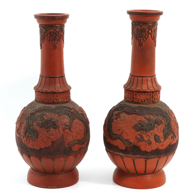 A Pair of Stoneware Vases