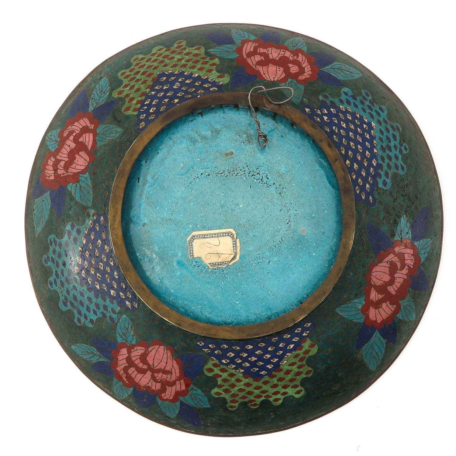 A Pair of Cloisonne Chargers - Image 4 of 10