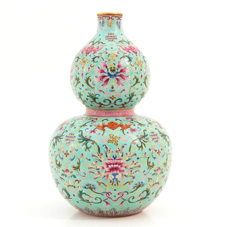 A Famille Rose Gourd Vase - Image 2 of 9