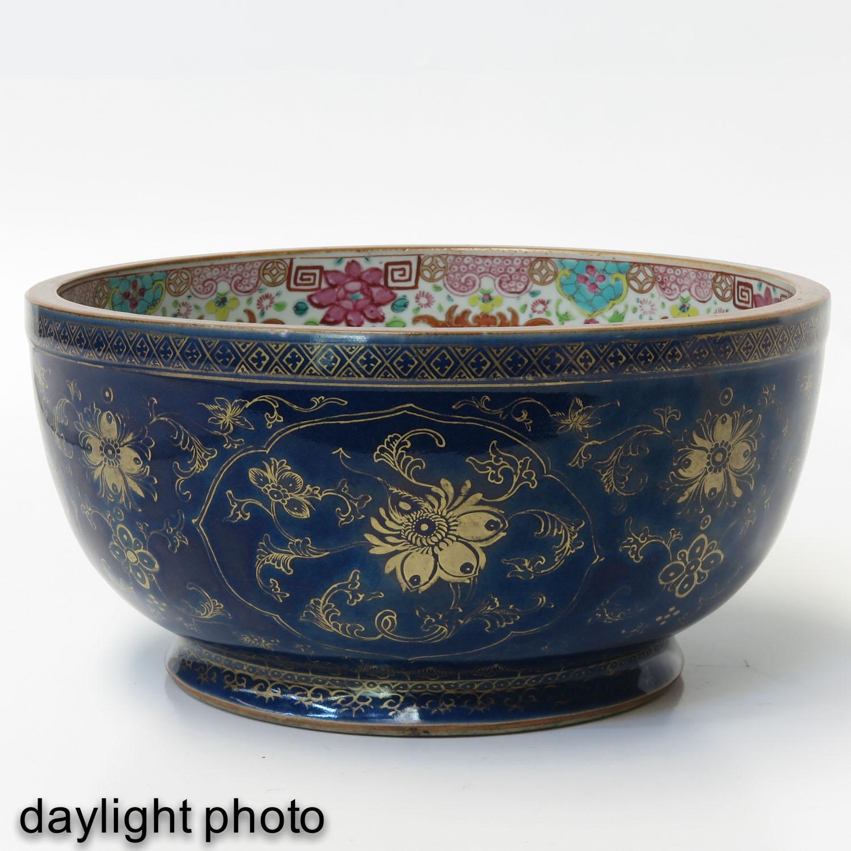 A Dark Blue and Gilt Bowl - Image 7 of 9