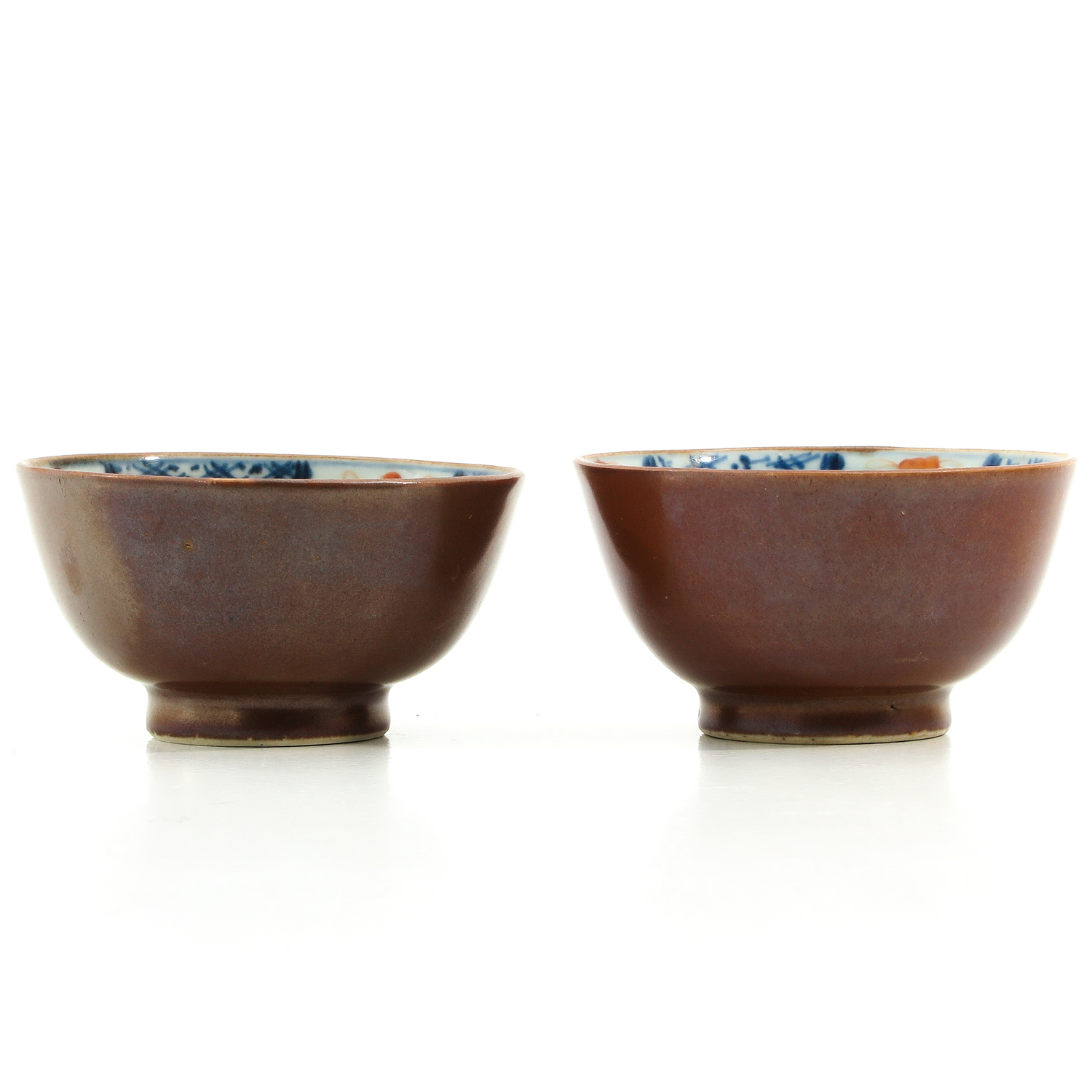 A Pair of Batavianware Cups and Saucers - Image 3 of 9