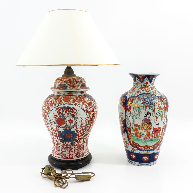 An Imari Vase and Lamp - Image 3 of 9