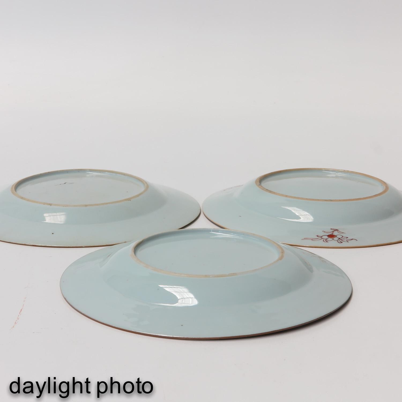 A Lot of 3 Polychrome Decor Plates - Image 10 of 10