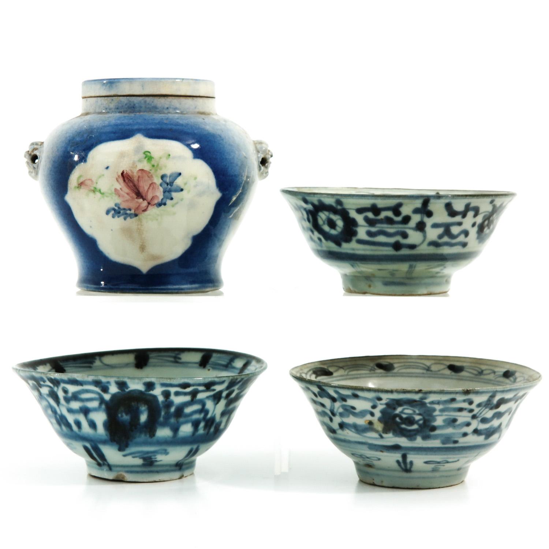 A Ginger Jar and 3 Bowls - Image 3 of 9