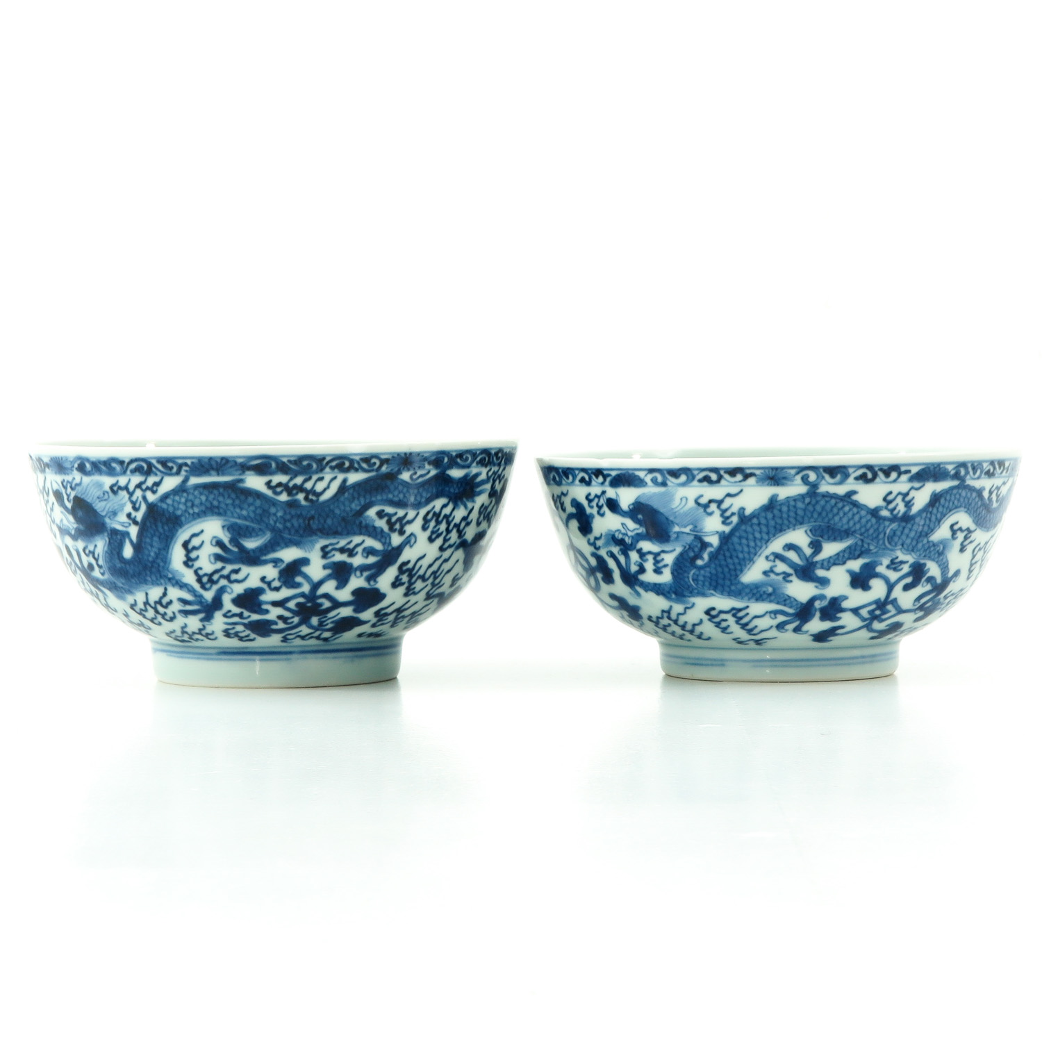 A Pair of Blue and White Bowls - Image 4 of 9