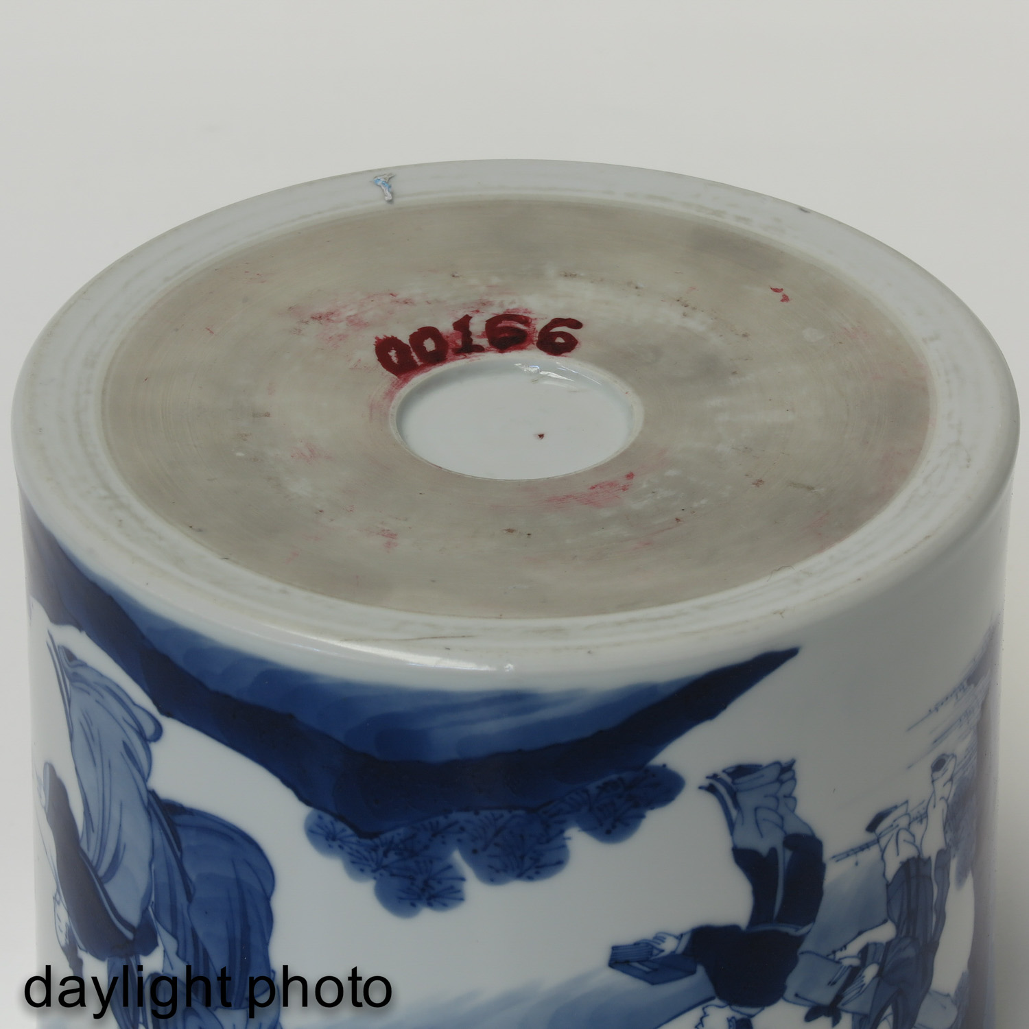 A Blue and White Brush Pot - Image 8 of 10