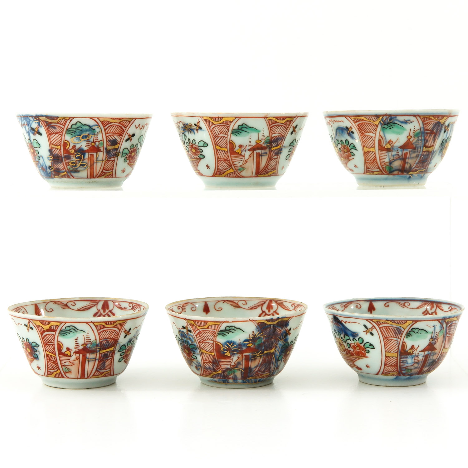 A Series of 6 Cups and Saucers - Image 4 of 10